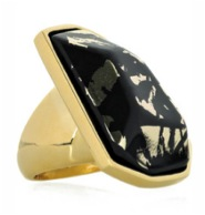 Kenneth Jay Lane 22-Karat Gold-Plated Cocktail Ring