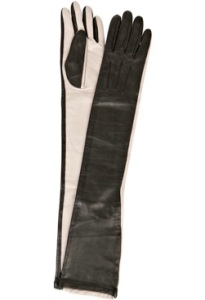 Anna Molinari Two-Tone Opera Length Gloves
