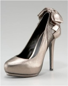 Rock & Republic's Back Bow Double Platform Pump