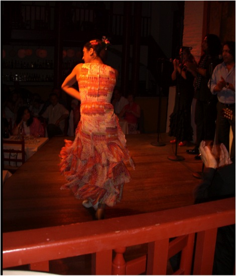 Flamenco dancer in Spain