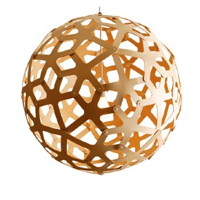 David Trubridge coral style pendant lamp