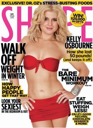 Kelly Osbourne on the cover of Shape Magazine