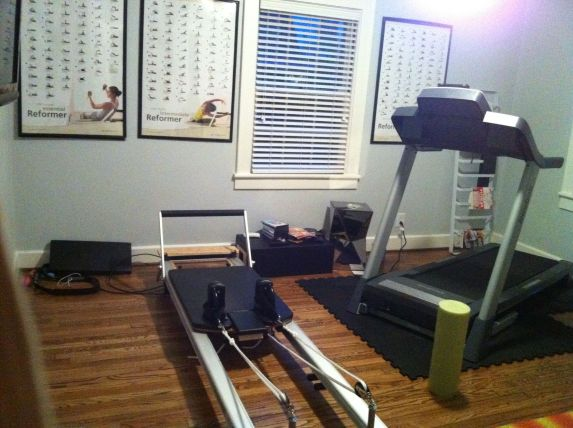 I love my little workout room, but not the day after Thanksgiving.