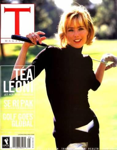 Tea Leoni on cover of PGA Magazine