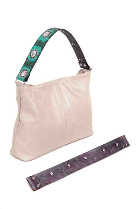 Katie Kalsi Metallic Sophie bag with Interchangable straps