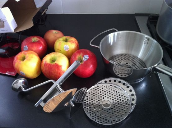 Yes, I use an old fashioned hand crank for my applesauce topping