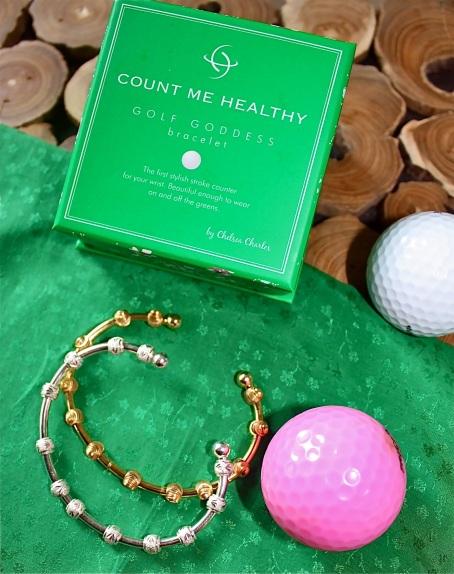 New Golf Goddess Golden Bracelet by Chelsea Charles