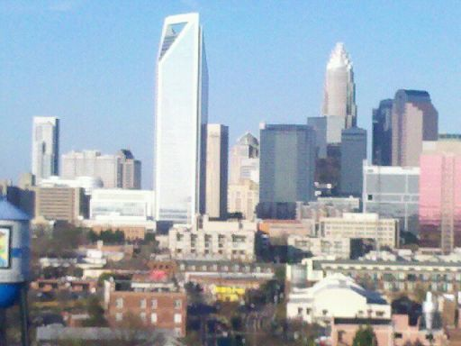 View of Charlotte's skyline from my home