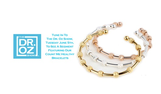 Count Me Healthy stackable bracelets on The Dr. Oz Show