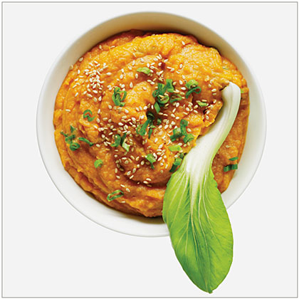 sweet potato, sesame, miso dip