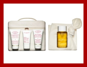 Clarins beautiful beginnings pregnancy kit. Chelsea Charles gift guide