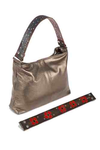 Pewter Metallic Sophia Bag by Katie Kalsi