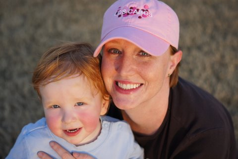 April Kelly with her son, Owen