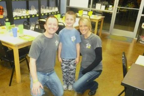 Laura, her husband Miles and son, Miles Drew