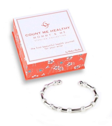"Count Me Healthy ""Mommy and Me"" bracelet by Chelsea Charles keeps track of daily feedings"
