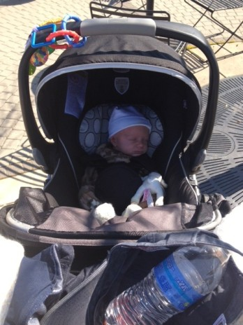 Camden Koch's first stroller ride