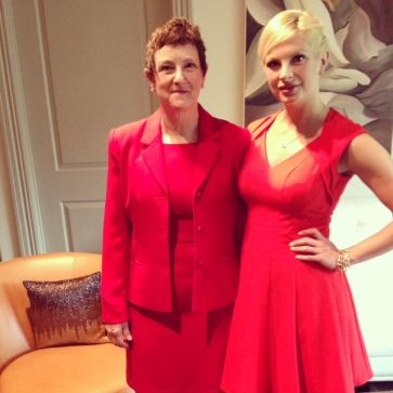 Chelsea Charles and her mom, Michelle, for Go Red event
