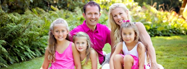 Susie Rahaim, creator of the blog Real Food, Real Fitness, and her family.